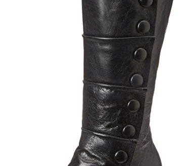 Amazon.com | Miz Mooz Women's Amelia Button Boot | Knee-Hi