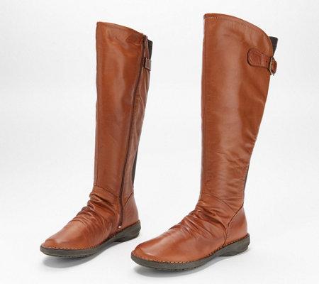 Miz Mooz Leather Wide Calf Tall Shaft Boots - Palmer — QVC.c