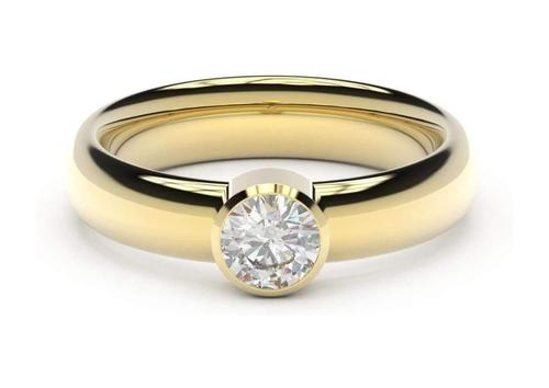 Modern Engagement Ring, Yellow Gold – Jens Hans