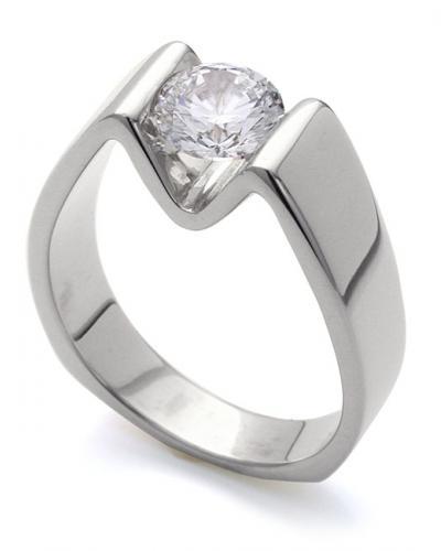 Modern Engagement Ring | Mark Schneider Desi
