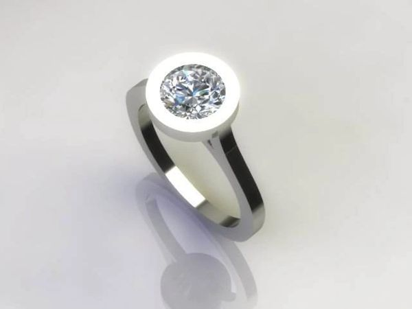 Ultra modern engagement ring | Nickey Jewelers In