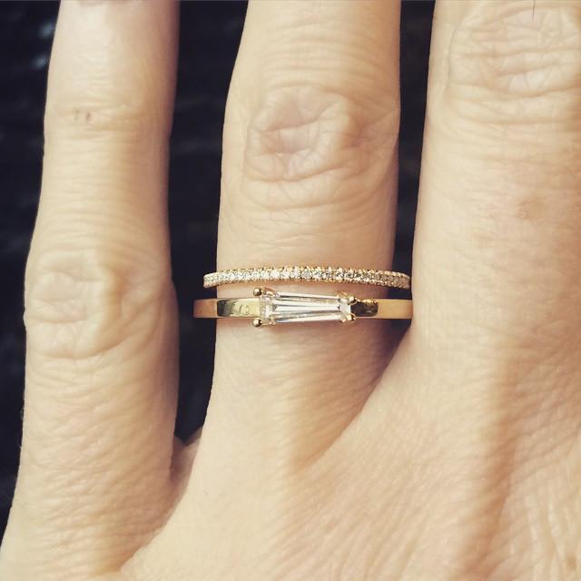Paloma Ring - Simple Modern Engagement Ring .41ct - Nora Kog