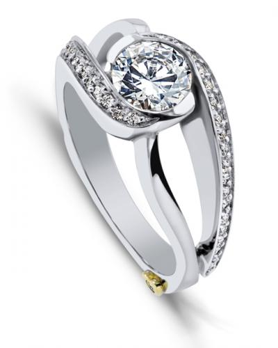Cascade: Modern Engagement Ring | Mark Schneider Desi