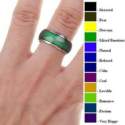Mood Ring Size 6, 6.5, 8, 9, 10 with Mood Chart (( BUY 2 GET ONE .
