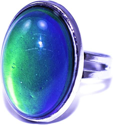 Amazon.com: Authentic adjustable Oval Mood Ring: Jewel