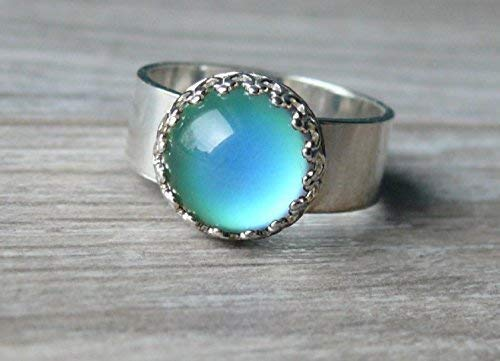 Amazon.com: Sterling Silver Mood Ring, Color Changing Jewelry, 925 .