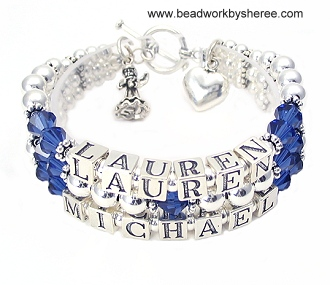 Mothers Bracelets, Deployment Bracelet, Military Jewelry, Cancer .