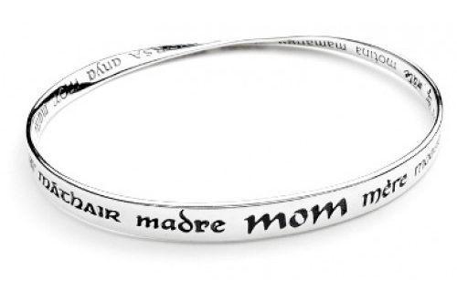 Mother In 32 Languages and Scripts Mobius Bracelets - Healing Baske