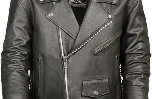 Amazon.com: Event Biker Leather Men's Basic Motorcycle Jacket with .