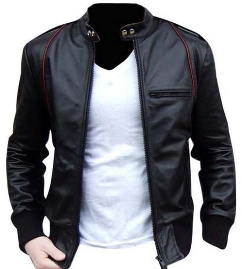 MEN LEATHER JACKET, MENS BIKER LEATHER JACKET, MOTORCYCLE LEATHER .