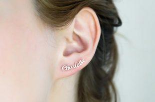Name Earrings Minimalist Earrings Personalized Earrings | Et