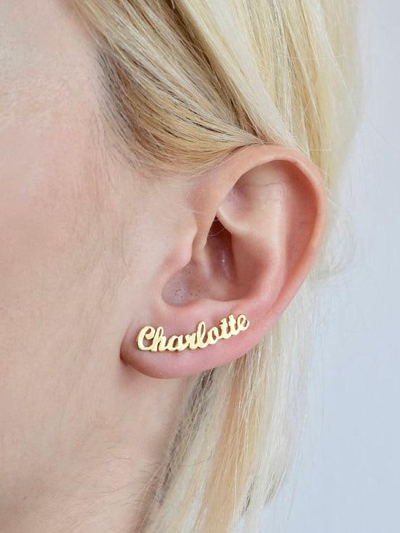 CUSTOM MADE NAME EARRINGS! – Trndsett