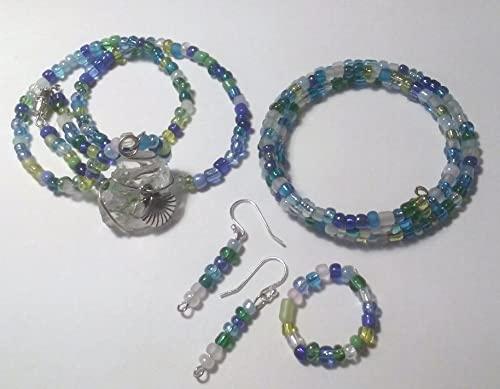 Amazon.com: Beach wedding jewelry set, bohemian nautical jewelry .