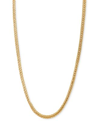 "Macy's 14k Gold Necklace, 18-24"" Foxtail Chain & Reviews ."