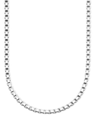 """Giani Bernini Sterling Silver Necklace, 16-30"""" Box Chain & Reviews ."""