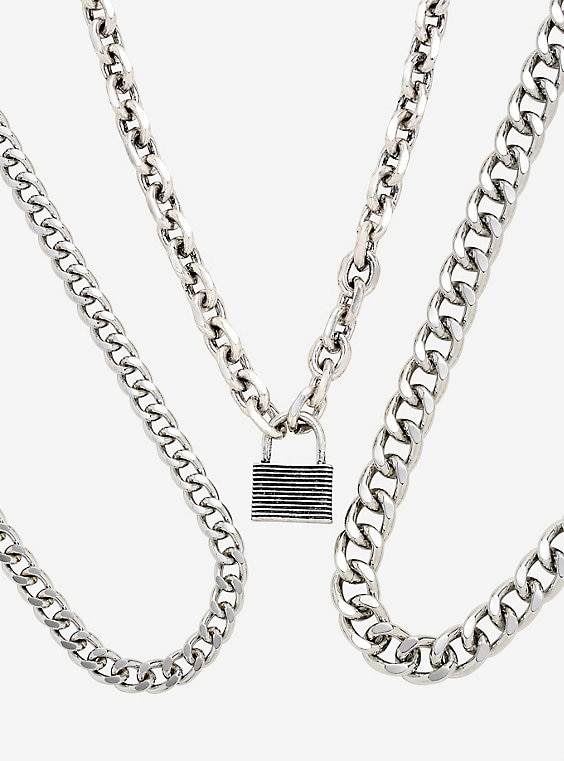 Padlock Chain Necklace S