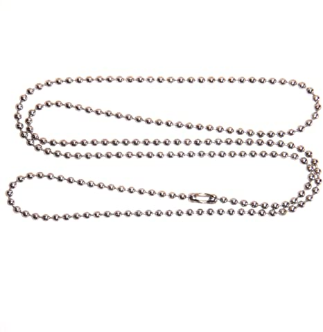 Amazon.com: 2 STAINLESS STEEL Ball Chain Necklace, 27 inches 2.4mm .