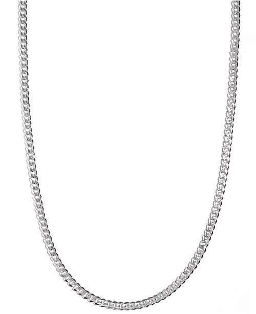 """Macy's Men's Sterling Silver Necklace, 24"""" 5-1/2mm Chain & Reviews ."""