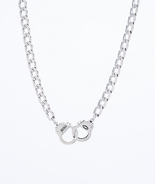 Personal Fears Handcuff Stainless Steel Chain Necklace | Zumi