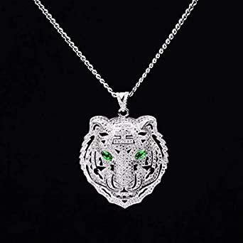 Best Quality - Pendant Necklaces - Men Hiphop iced Out Bling Tiger .