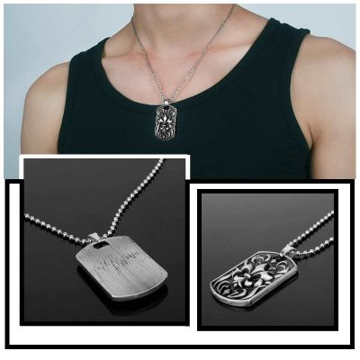 Cool Necklaces for Men - Stainless Steel Iris Penda