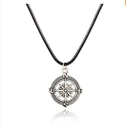 Amazon.com: Men's Necklace - Men's Compass Necklace - Men's Silver .