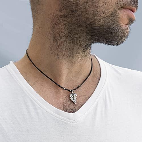 Amazon.com: Men's Necklace - Men's Choker Necklace - Men's Leather .