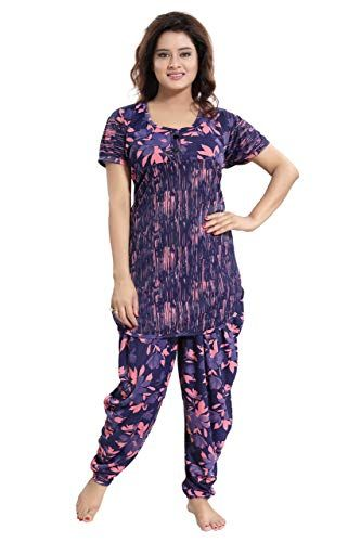 TUCUTE Top and Dhoti Style Bottom Night Suit/Nighty/Nightdress .