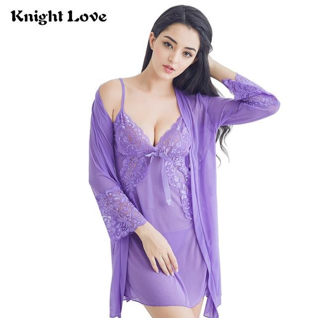 Sexy Women Night Dress V neck Lace Lingerie Sleepwear Ladies .
