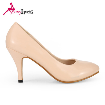 Famous Brands Nude Color Ladies High Heels Shoes - Buy Nude .