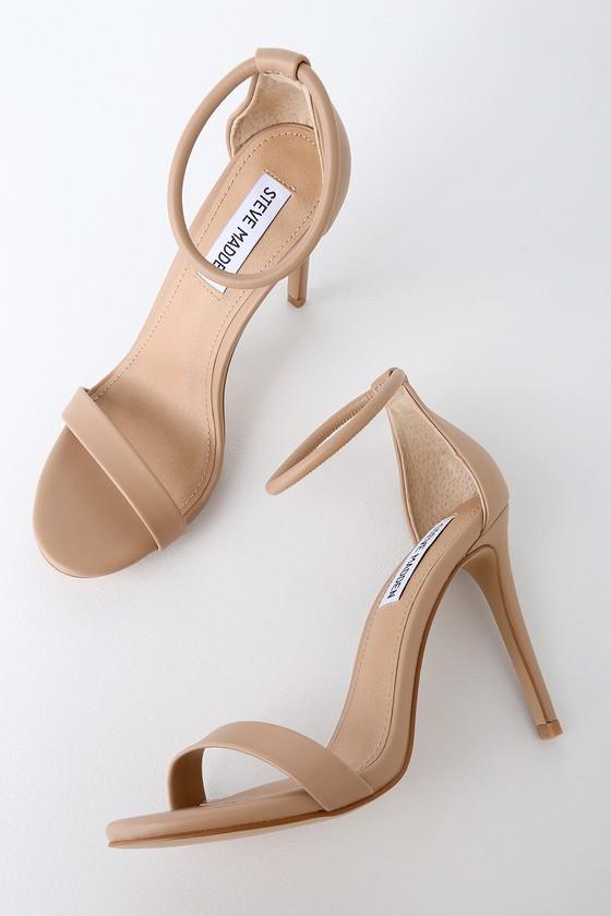 Steve Madden Soph Heels - Natural Heels - Ankle Strap Hee