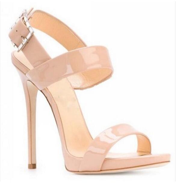 2017 Summer Women Nude Color Sandals Wedding Shoes Open Toe .