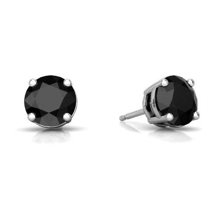 Black Onyx Round Stud earrings E1786-WON