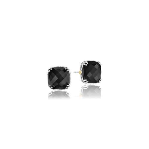 Tacori 18K925 Sterling Silver and 18K Yellow Gold Black Onyx .