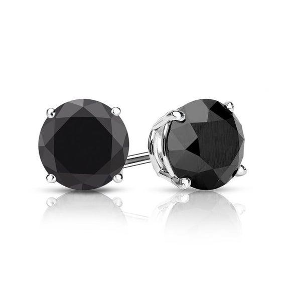 Black Onyx Earrings white gold black onyx stud earrings | Et