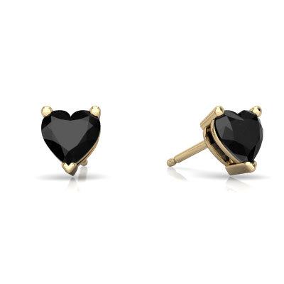 Black Onyx Heart Stud earrings E1861-YON