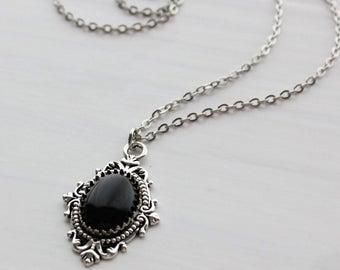Black onyx necklace | Et