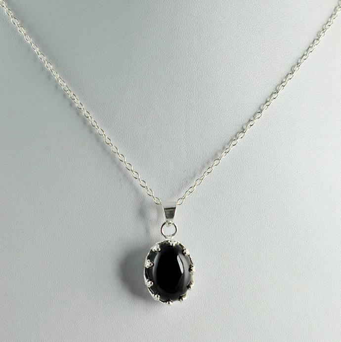 Black Onyx Silver Necklace ~ 925 Solid by Jewel-tech on Zibb