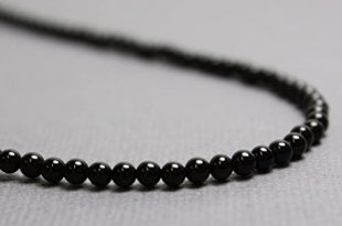 Amazon.com: Black Onyx Necklace-3mm Beads-Sterling Silver Clasp-14 .