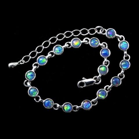 Opal Bracelet 6412 - Opal Jewelry - Opal Pendants, Opal Rings .