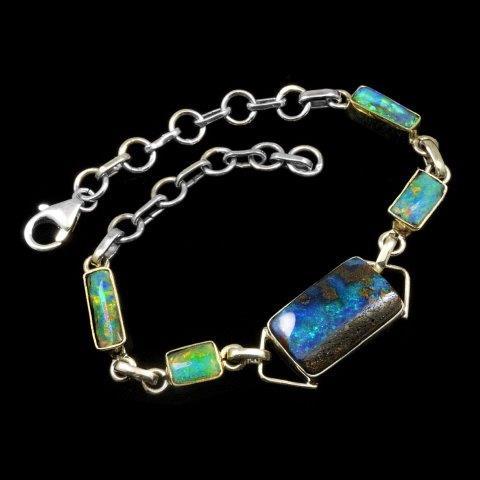 Boulder Opal Bracelet - Opal Jewelry - Opal Pendants, Opal Rings .