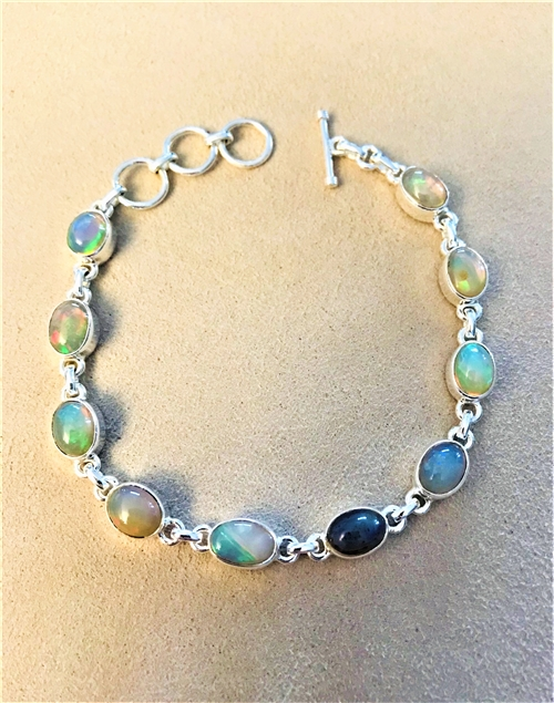 Opal Bracelet set in Sterling Silv