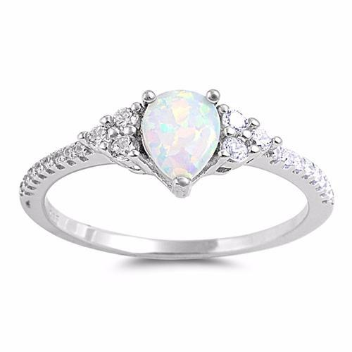 White Opal Pear Cut Ring Opal Promise Ring Opal Ring – The Irish G