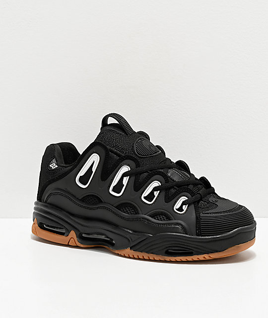 Osiris D3 2001 Black & Gum Skate Shoes | Zumi