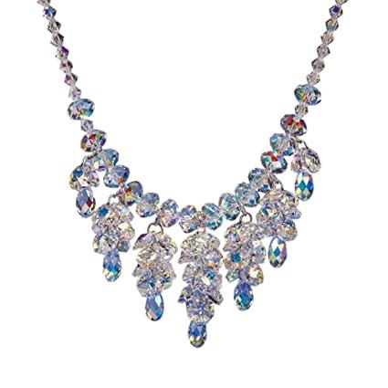 Amazon.com : ZSML Austrian Crystal Beaded Necklace Pendant Female .