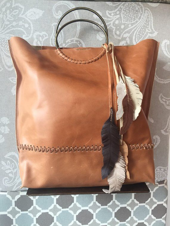 Tan Leather Bag, Oversized Handbag, Tan leather tote, Oversize Bag .