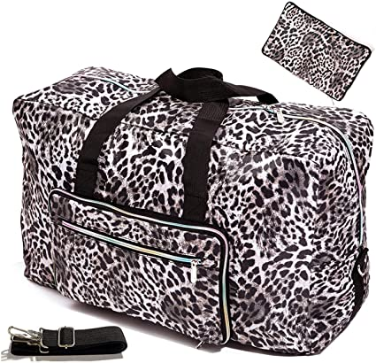 Large Foldable Travel Duffel Bag 50L Oversized Cute Floral Travel .