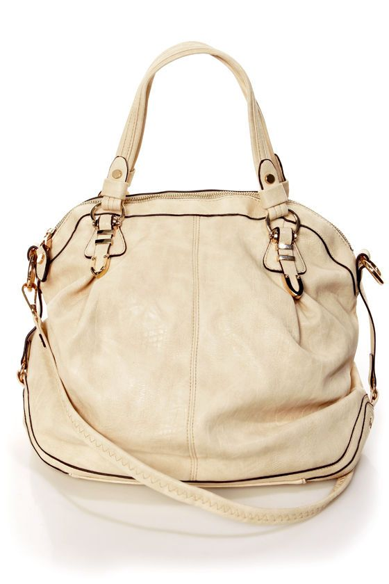 Very Important Purse-in' Cream Handbag by Urban Expressions | Big .