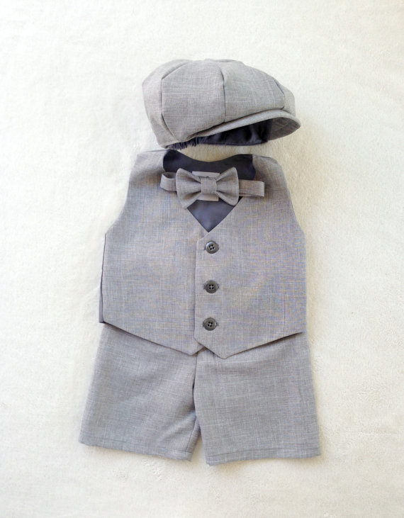 Page Boy Outfit - Ring Bearer Outfit - Boy First Birthday Outfit .
