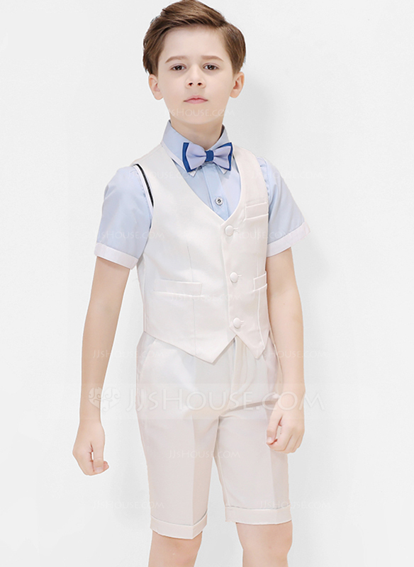 Boys 4 Pieces Classic Ring Bearer Suits /Page Boy Suits With Shirt .